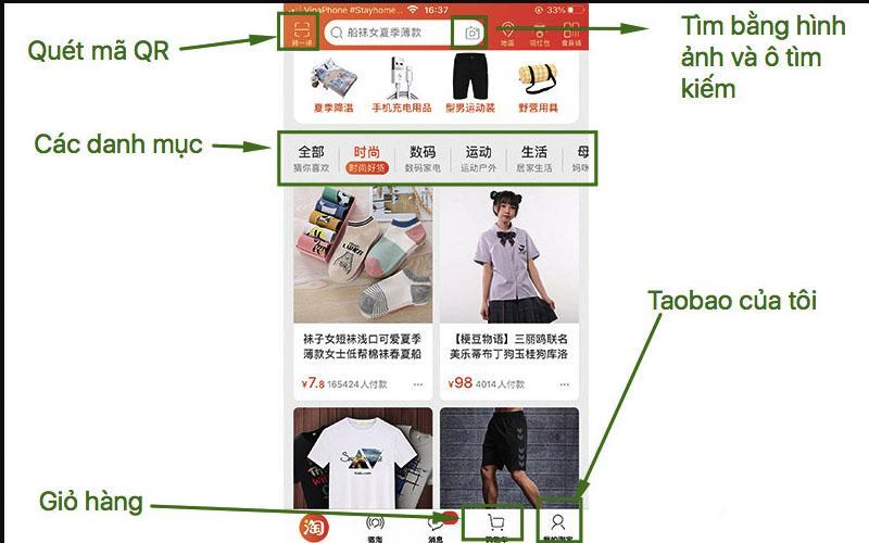 Các cách để tìm kiếm sản phẩm taobao trên điện thoại